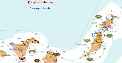 interactive tourist travel map CANARY ISLANDS