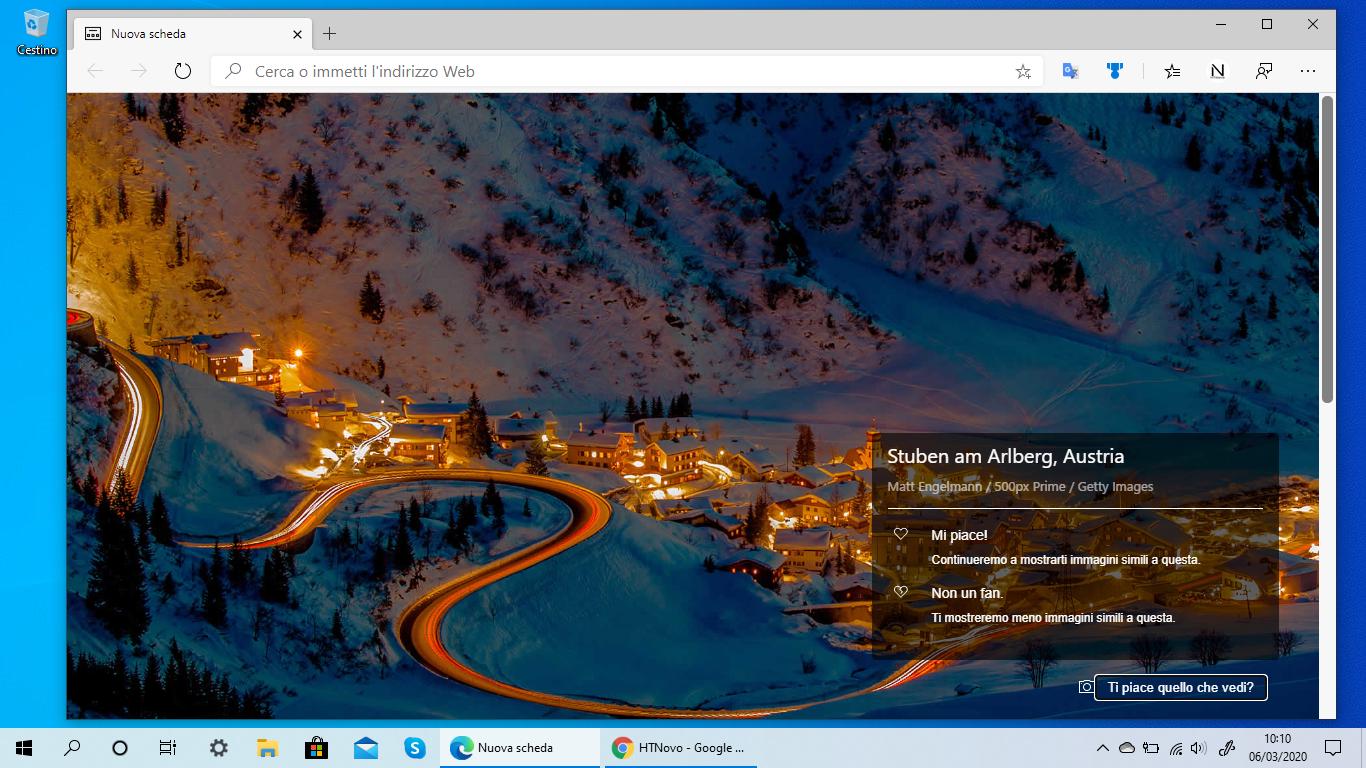 Immagini Windows Spotlight nel nuovo Microsoft Edge