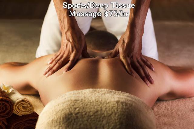 Sports / Deep Tissue Massage $75/hr