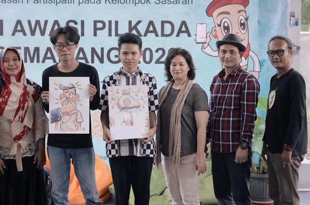 Kartun Awasi Pilkada Kota Semarang 2020