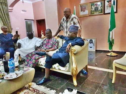 PDP Leadership Crisis Over? Sheriff, Markarfi, Ekweremadu, Others in All-night Meeting (Photo)