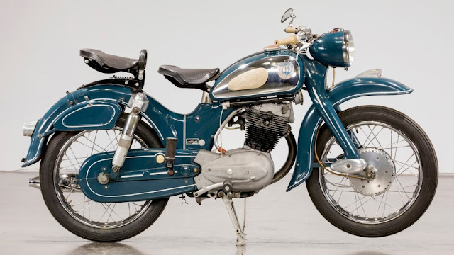 NSU Supermax German 1950s classic motorcycle
