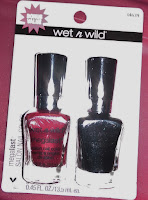 Wet n Wild HAUL nail polish duo sets Dollar Tree swatches red eye hit pavement