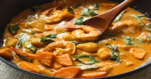 Thai Red Curry With Shrimp And Mango Recipe
