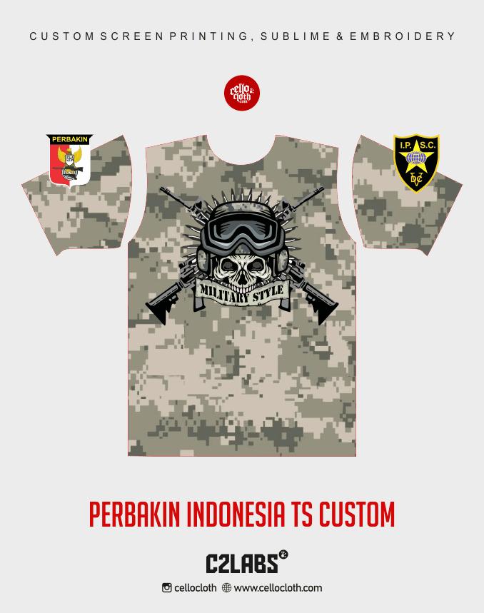 Ts 5 Perbakin Indonesia Baju Kaos Jersey Printing - Vendor Printing Jersey Jogja