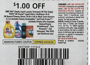 "$1.00/1 Tide Simply Coupon from ""P&G"" insert week of 3/8/20"