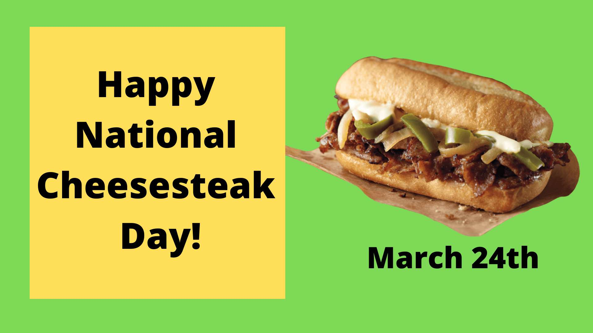 National Cheesesteak Day Wishes Unique Image