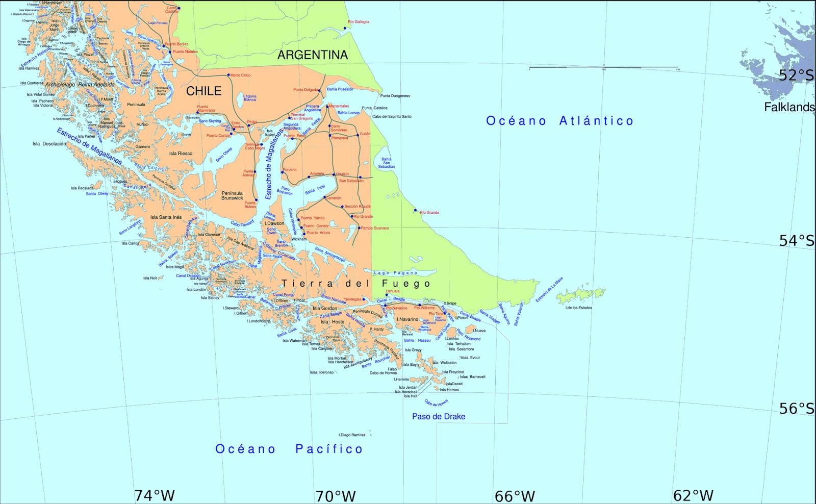 Cape Horn On South America Map.Polar Soils Blog Drake Passage Take 2