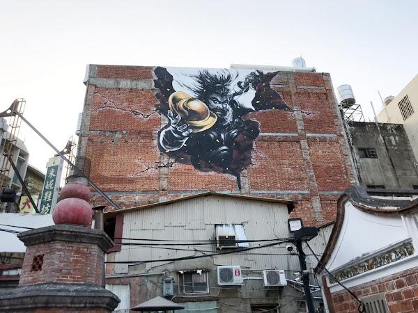 永樂商圈高空彩繪 彰化街區美學注入新能量