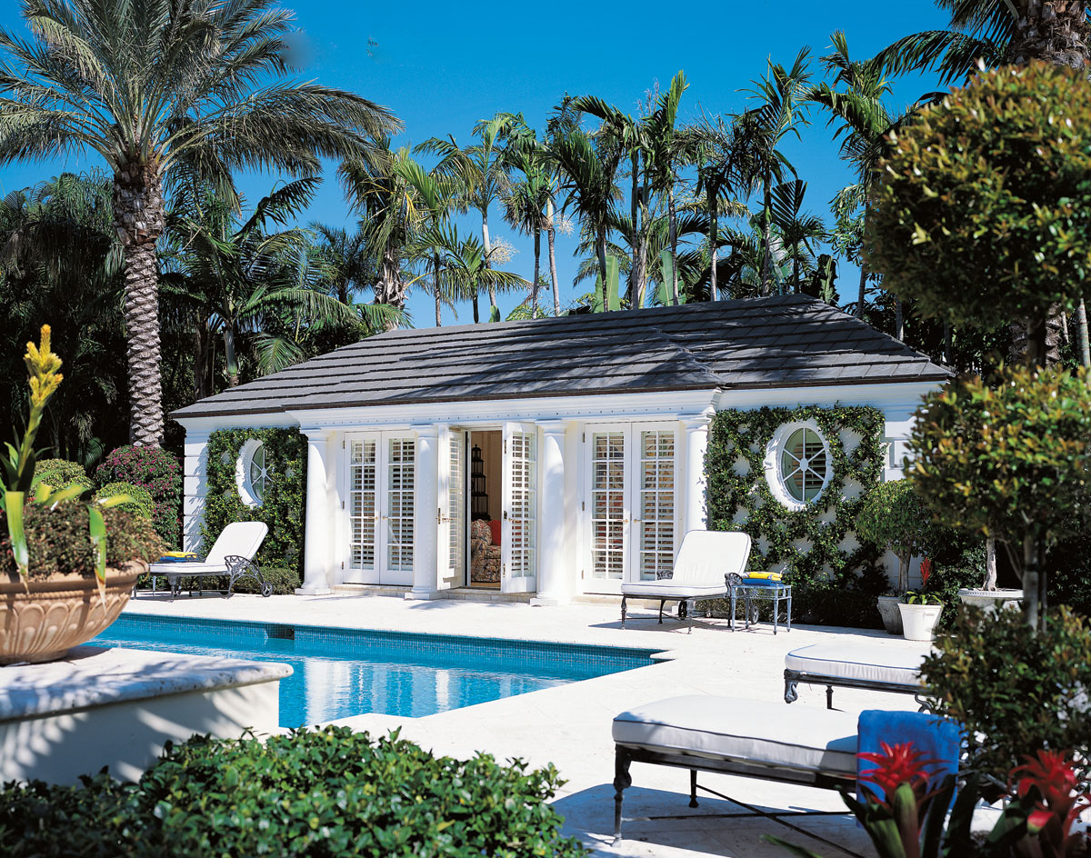 A tribute to designer daniel clancy the glam pad - Palm beach pool ...