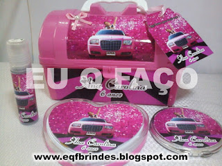 limousine rosa, kit maquiagem limousine rosa, brinde limousine rosa, lembrancinha limousine rosa, festa limousine rosa, tema limousine rosa
