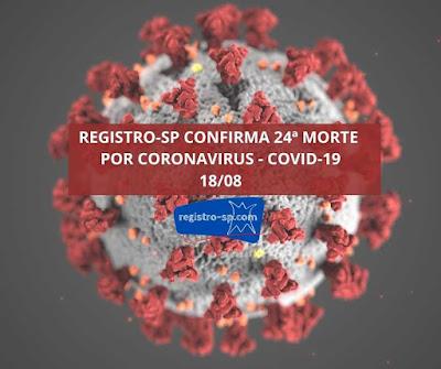 Registro-SP confirma 24ª morte por Coronavirus - Covid-19