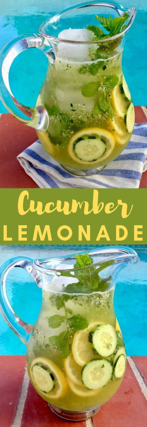 Cucumber Lemonade #Recipe #Lemonade #cucumber #healthydrink #yummy