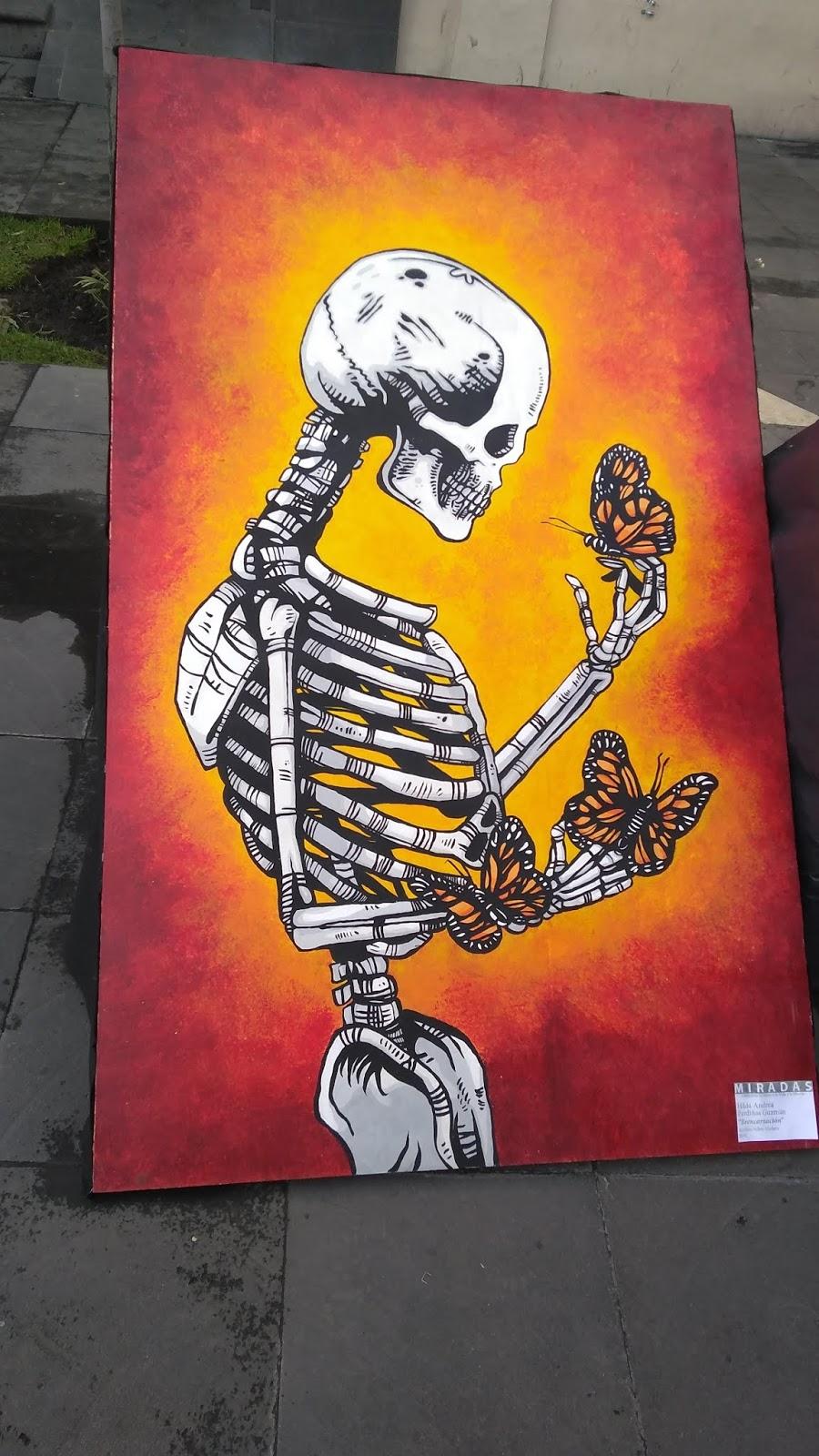 Imagen del lienzo canvas Print muro imágenes son impresiones artísticas punk rock cráneo cabeza calavera