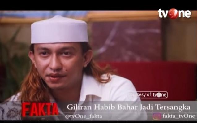 Usai Ditetapkan Tersangka, Ini yang Dikatakan Habib Bahar bin Smit Pada Acara Fakta TV One