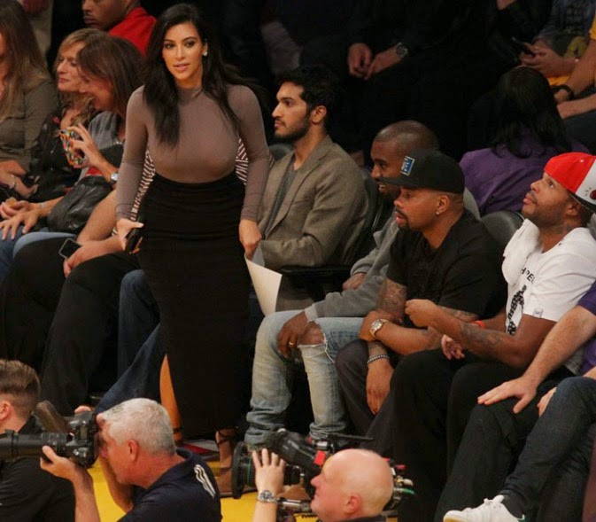 Kim Kardashian and Kanye West witnesses to defeat of the Lakers