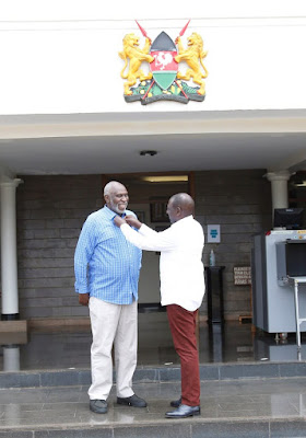 DP William Ruto with Charles Nyachae