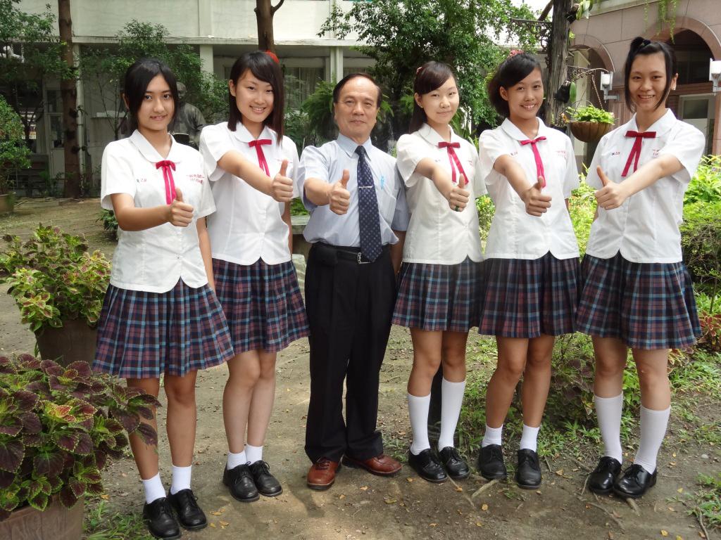 Seragam sekoalh manis dan seksi Siswi Remaja Taiwan
