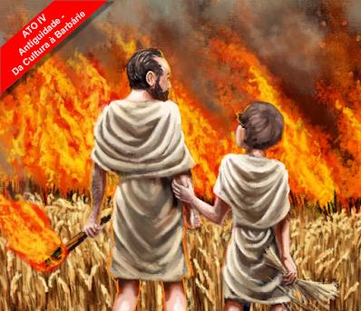 Antiguidade, da Cultura à Barbárie - Livro - Império Romano - Roma - Civilização - Decadência - Invasões bárbaras
