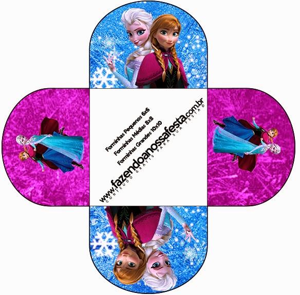 Cajas de Frozen Azul y Purpura para imprimir gratis