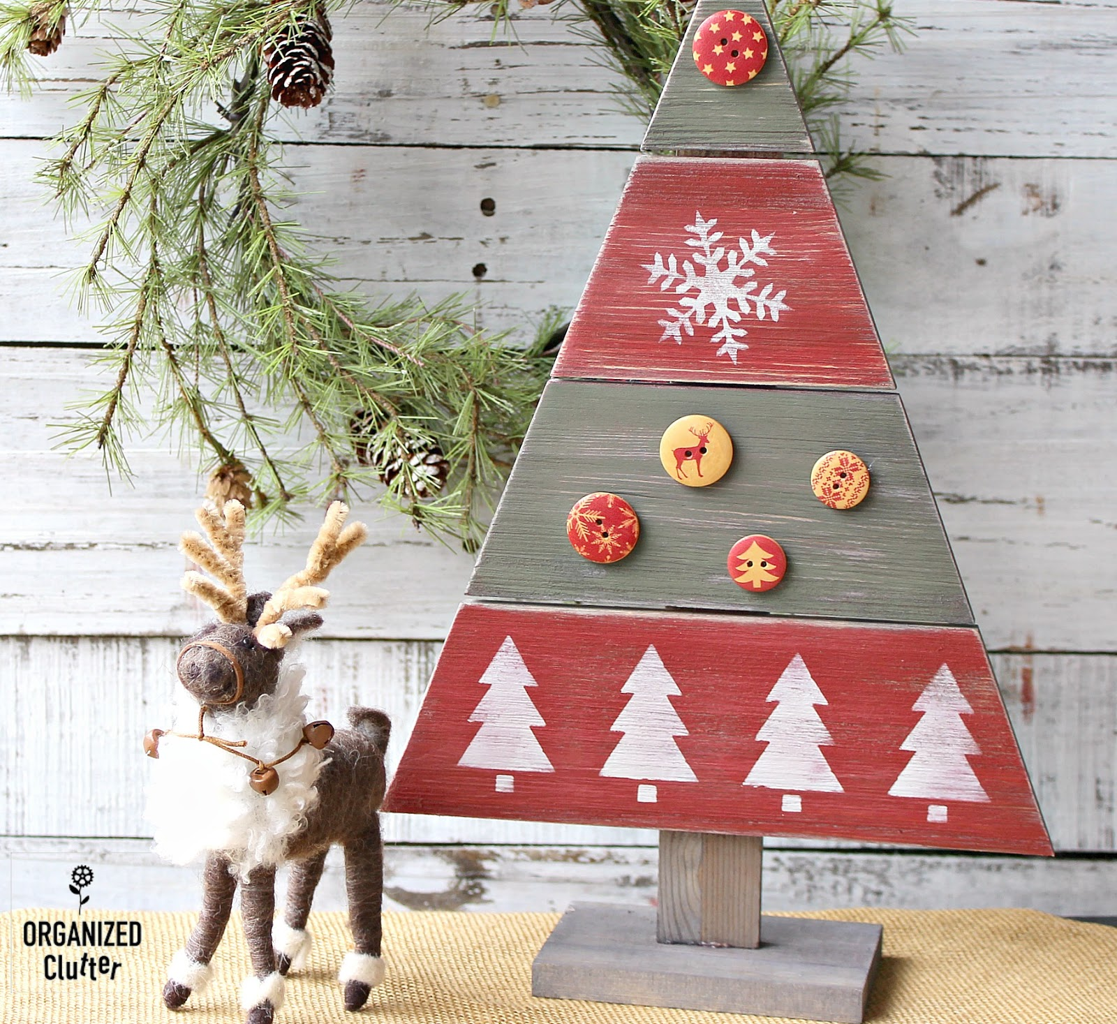 Decorating A Hobby Lobby Wooden Christmas Tree Cutout
