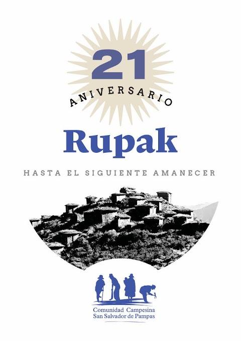 Rúpak cumple mañana 21 años en ser declarado Patrimonio Cultural de la Nación