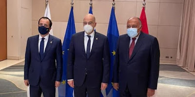 Egypt, Greece and Cyprus affirm necessity to find political solution to crisis in Syria
