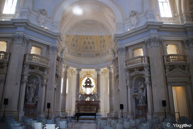 Gli interni della Cappella di Sant'Uberto progettata da Juvarra
