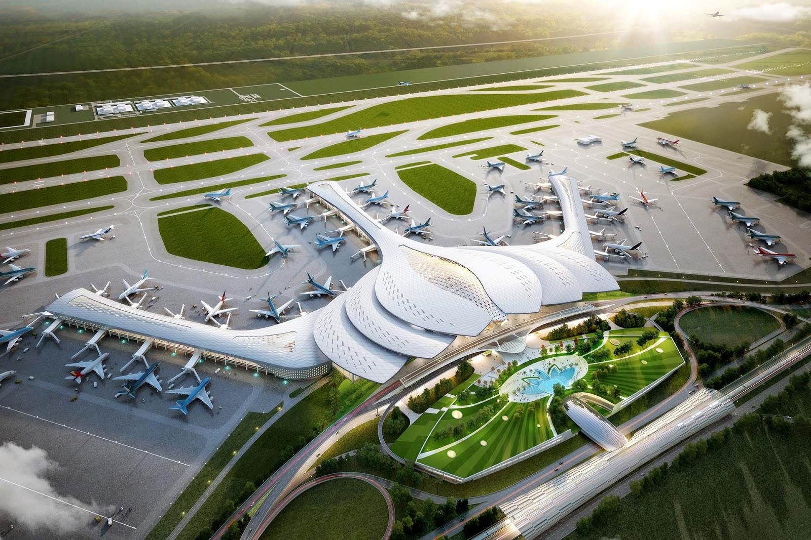 Phối cảnh tuyệt đẹp của dự án sân bay Quốc tế Long Thành, Long Thành (Đồng Nai)