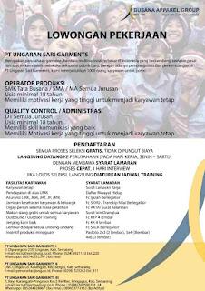 Loker PT USG Semarang 2020, Loker PT USG Pringapus 2020, Loker PT USG Congol