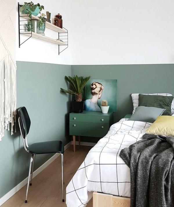 Dipingi metà del muro in camera
