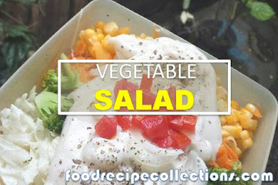 Vegetables Salad with Thousand Island Sauce