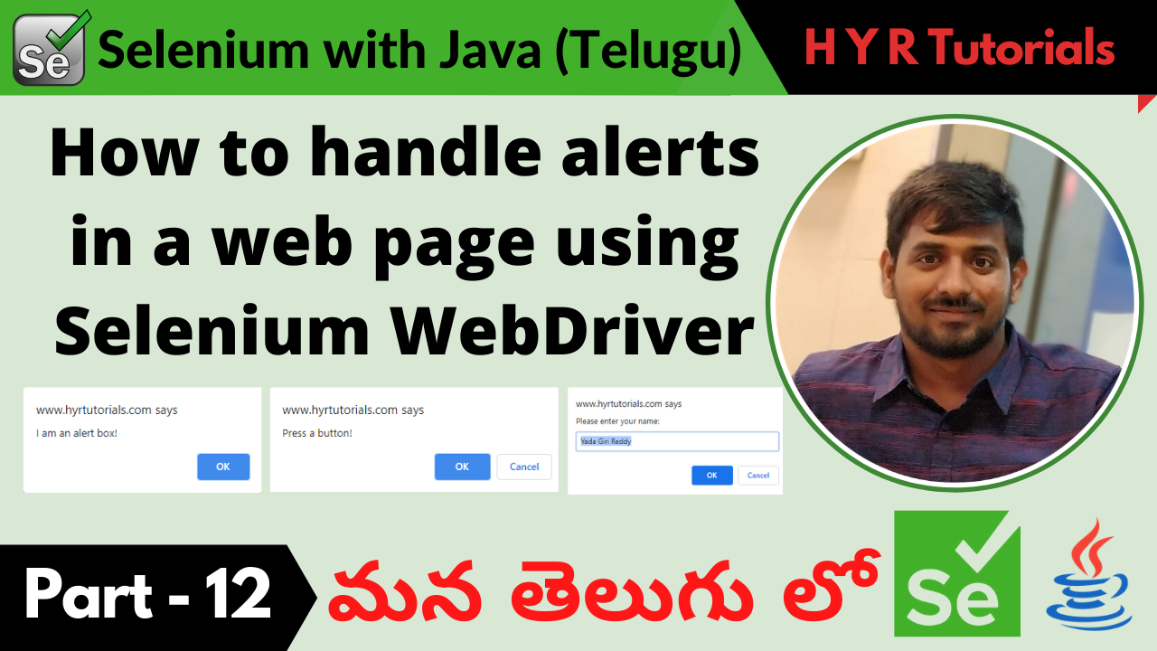 How to handle alerts in a web page using Selenium WebDriver