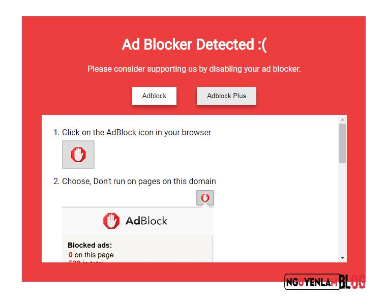 Cách Chặn Adblock Trên Trang Blogger/Blogspot Của Bạn 2