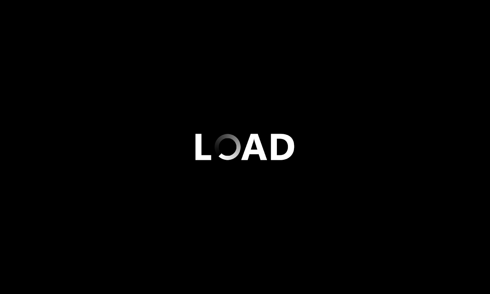 Load Text Creative Logo Inspiration