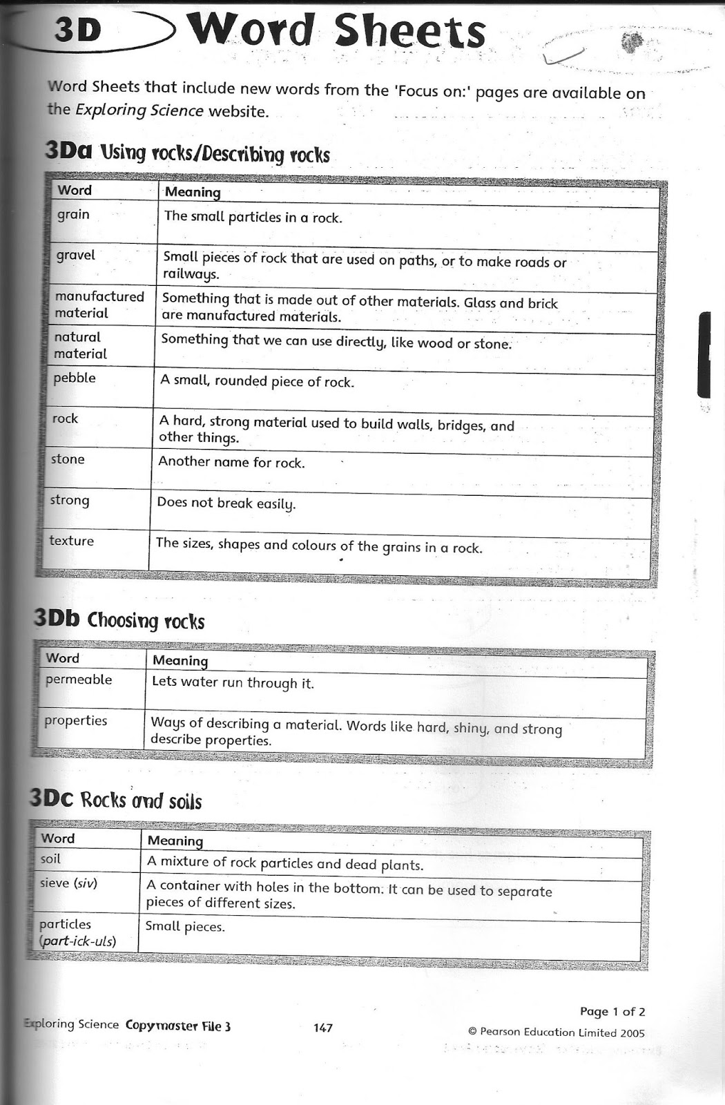 The City School Grade 3 Science Reinforcement Worksheets