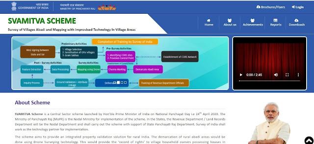पीएम स्वामित्व योजना official portal