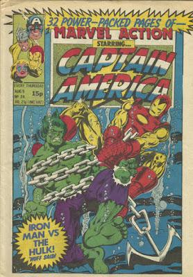Marvel Action #24, Captain America, Iron Man vs the Hulk
