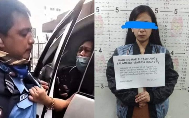 Woman assaulting traffic enforcer in viral video allegedly a drug courier