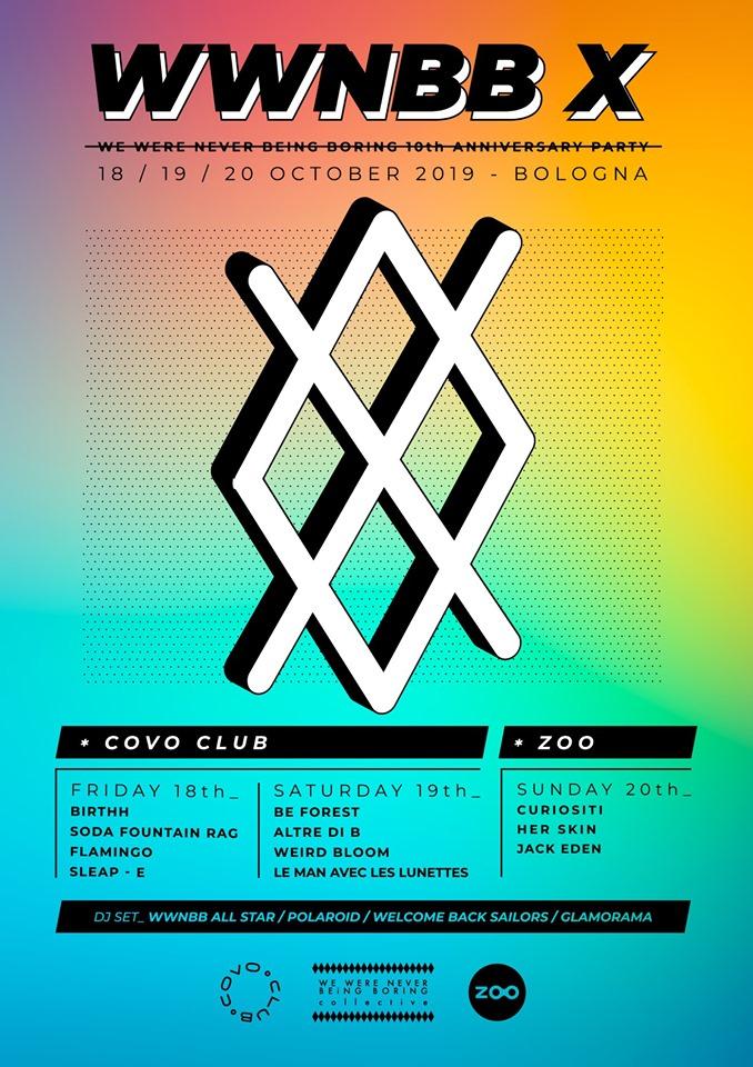WWNBB X - COVO CLUB / ZOO - BOLOGNA 18-19-20 OTTOBRE 2019