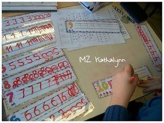 Activité sur l'écriture des nombres via feuilles plastifiées