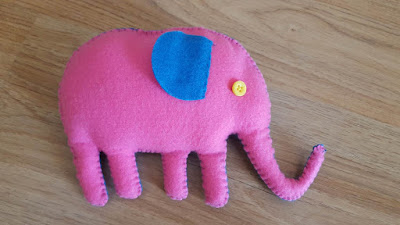 Two Toned Elephant Softie Pattern and Tutorial
