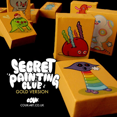 Secret Painting Club Gold Edition Blind Bag Painting Series by Couk