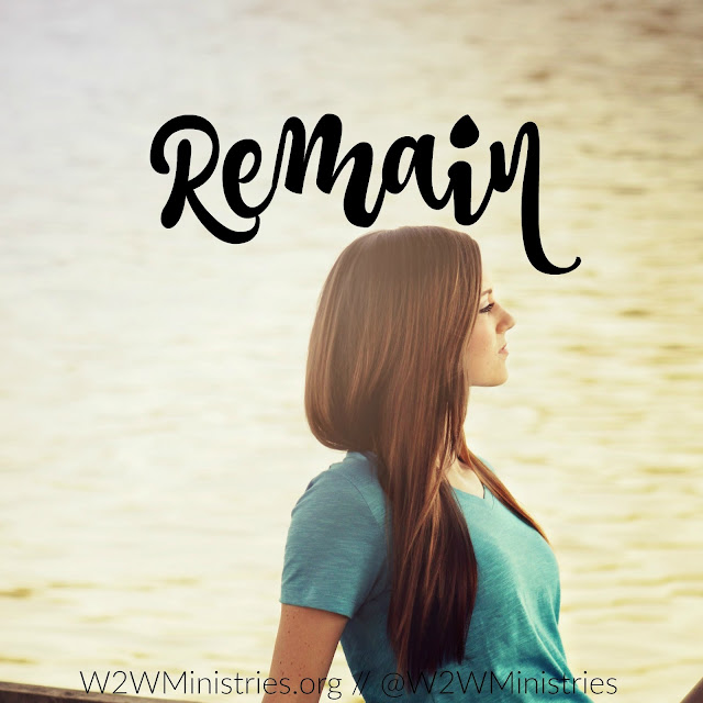 Remain in Him.