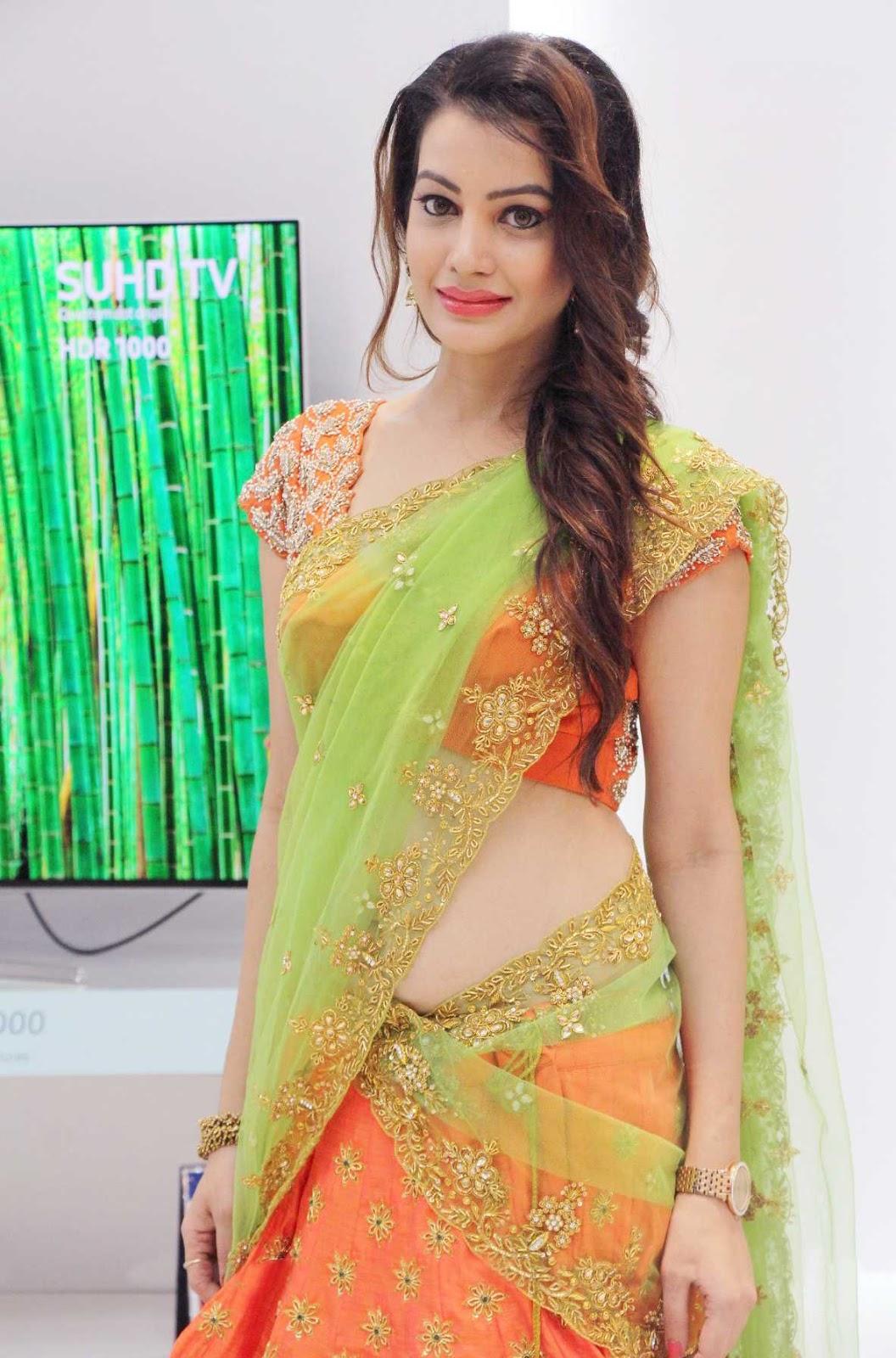 saree market: south indian actress diksha panth in party wear saree