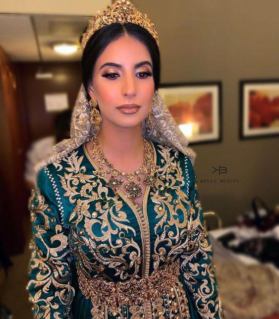 caftan mariage de luxe satin de soie 2020