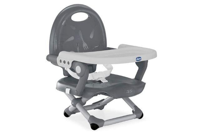 Melhores cadeiras de alimentação Pocket Snack Chicco, Dark Grey