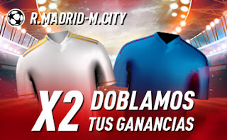sportium promocion champions Real Madrid vs City 26 febrero 2020