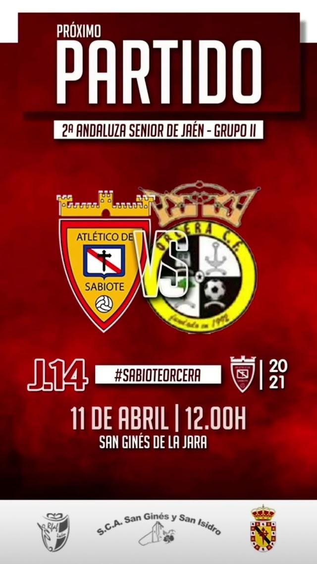 SENIOR:J14 AT SABIOTE – ORCERA CF