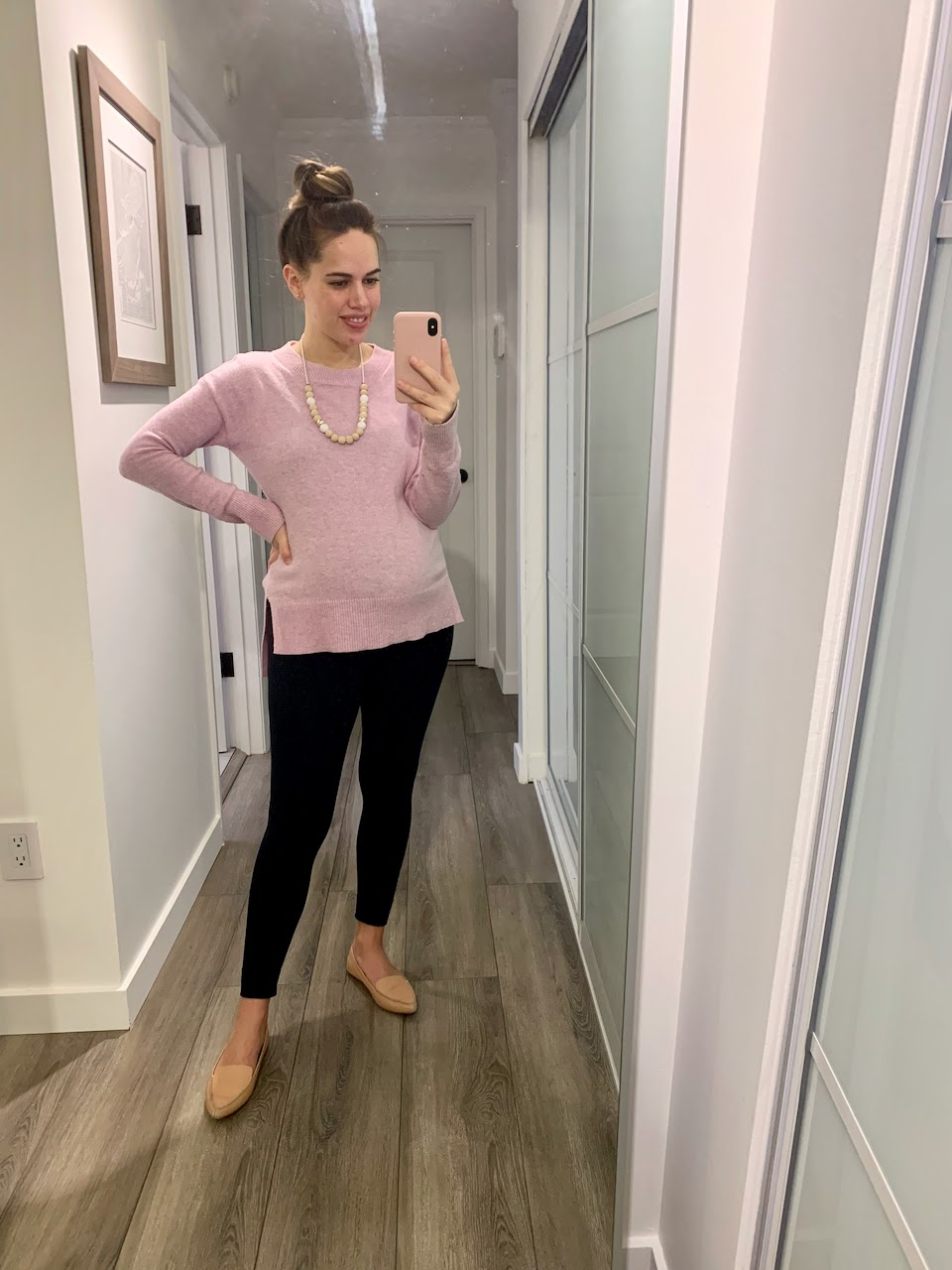 Jules in Flats - Tunic Sweater with Leggings (Business Casual Workwear on a Budget)